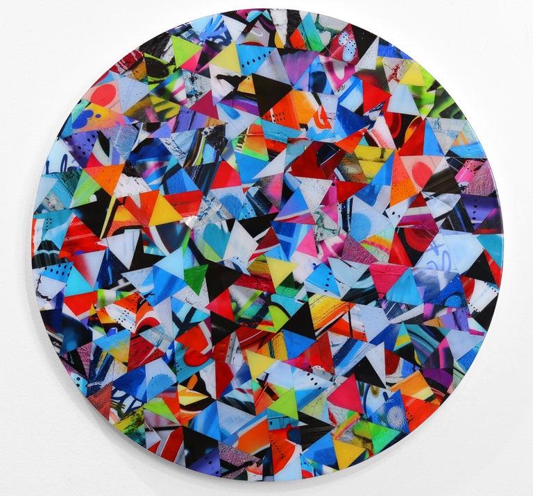 Confetti 3 - Mixed Media Art by Nicola Katsikis