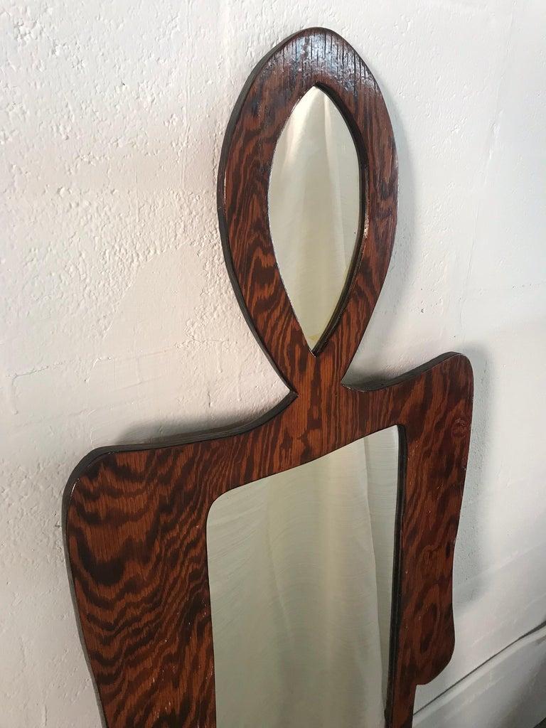 20th Century Nicola L Style Figural Mirror For Sale