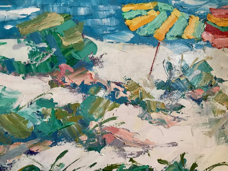 Nicola Simbari after Oil Painting of Figure in Mediterranean Landscape For Sale 1