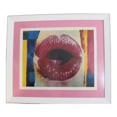 """Nicola Simbari """"Lips"""" Lithograph Print"""