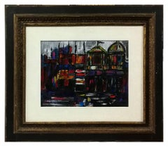 Venice - Original Oil Painting by Nicola Simbari - 1962