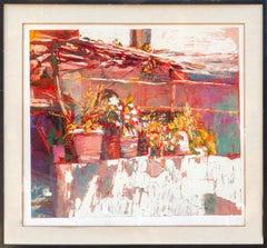 Balcony in Amalfi, Impressionist Print by Nicola Simbari