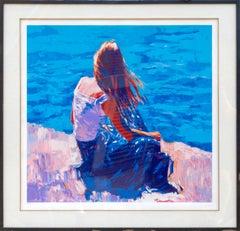 Circeo, Impressionist Print by Nicola Simbari