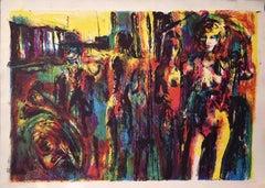 Crazy Horse - Original Lithograph by Nicola Simbari - 1977