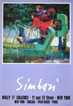 Manifest of Simbari - Original Lithograph by Nicola Simbari - 1970