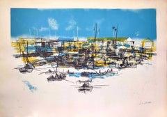 Marina - Original Lithograph by Nicola Simbari - 1977