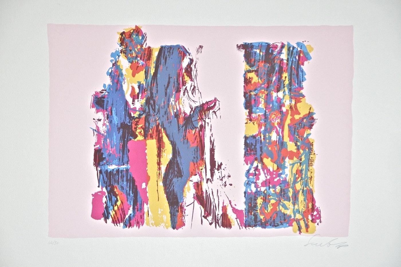 Subject n. 7 - Original Screen Print by Nicola Simbari - 1976