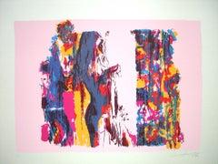 Subject no.7e - Original Screen Print by Nicola Simbari - 1976