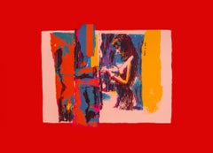 Woman - Original Screen Print by Nicola Simbari - 1976