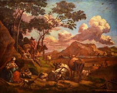 Landscape Italy Roma 18th Century Oil on canvas Paint Baroque Quality