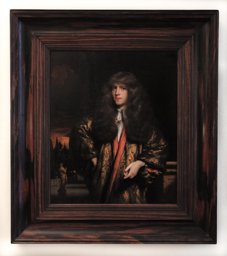 Portrait of a Young Dutch Gentleman by Nicolaes Maes, Oil on Panel, Old Master  For Sale 1