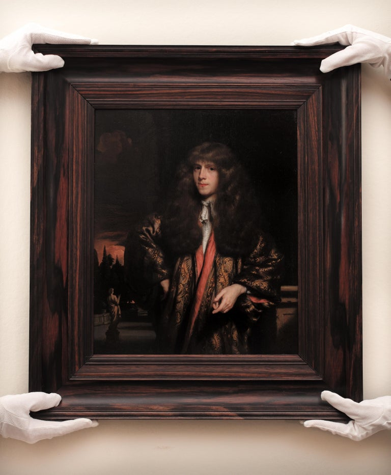 Portrait of a Young Dutch Gentleman by Nicolaes Maes, Oil on Panel, Old Master  For Sale 2