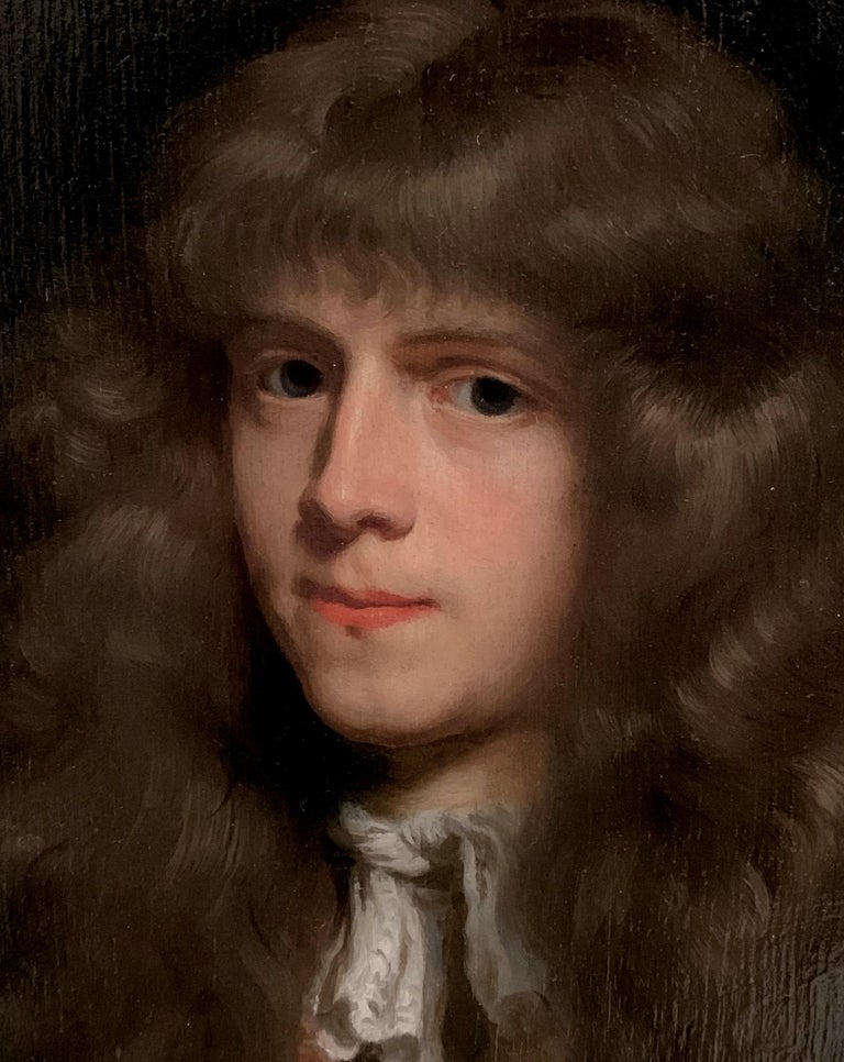 Portrait of a Young Dutch Gentleman by Nicolaes Maes, Oil on Panel, Old Master  For Sale 3