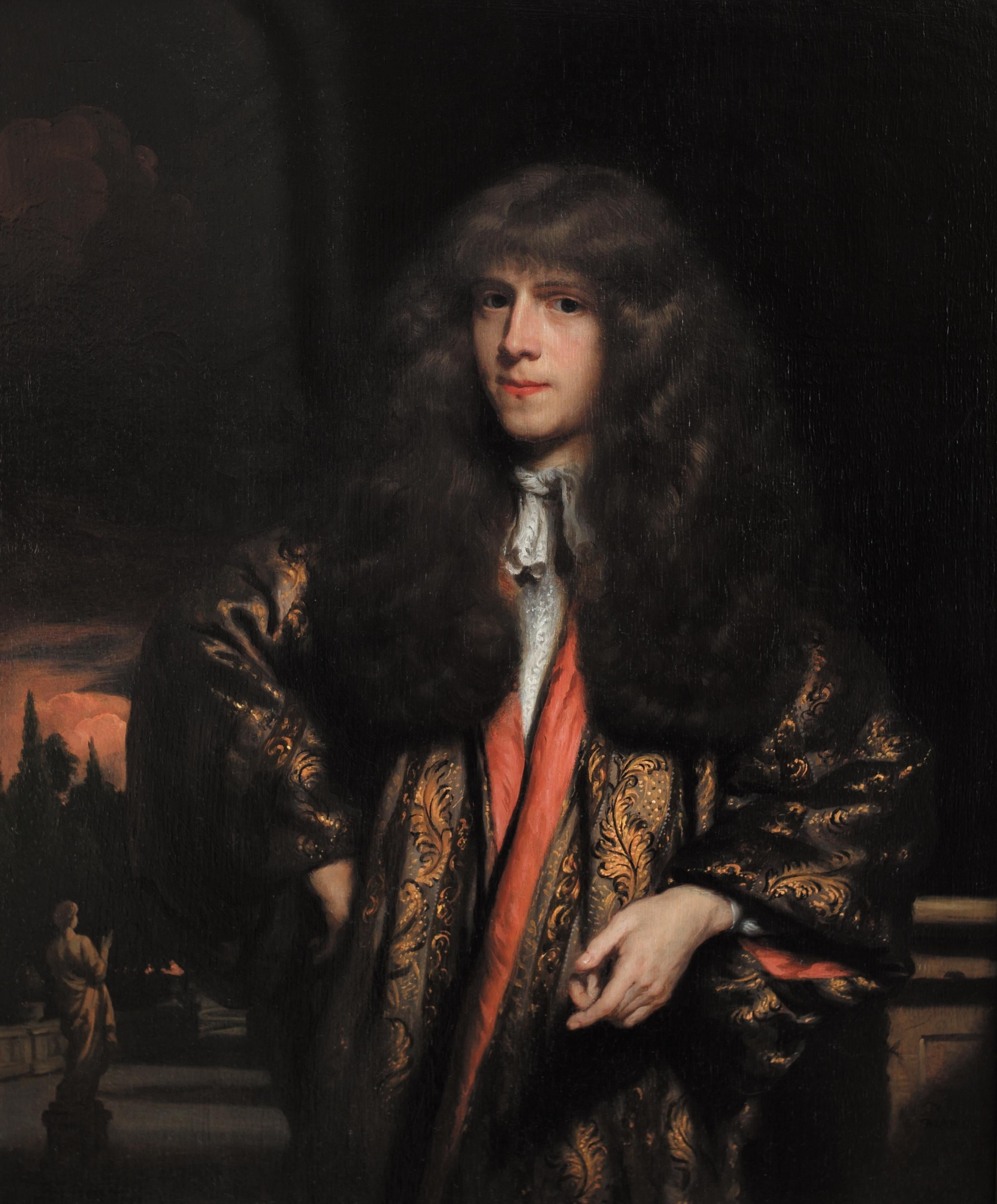 Portrait of a Young Dutch Gentleman by Nicolaes Maes, Oil on Panel, Old Master