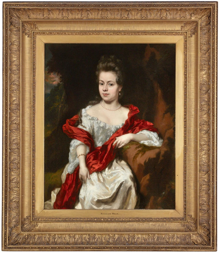 Portrait of Noble Lady - Painting by Nicolaes Maes