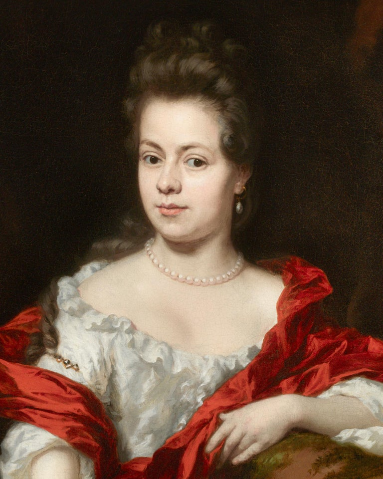 Portrait of Noble Lady - Baroque Painting by Nicolaes Maes