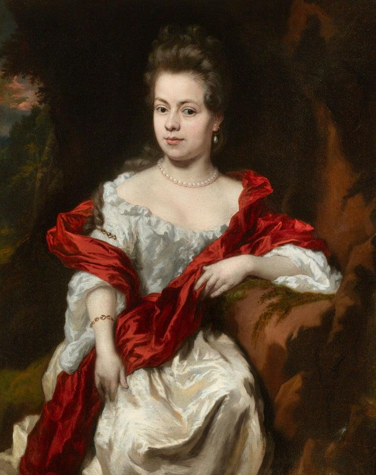 Nicolaes Maes Portrait Painting - Portrait of Noble Lady