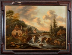 Landscape, Old Master Flemish Painting, Oil on canvas, Baroque 17th Century