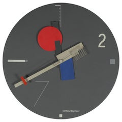 Nicolai Canetti Art Time Wall Clock 1980s, Memphis Style