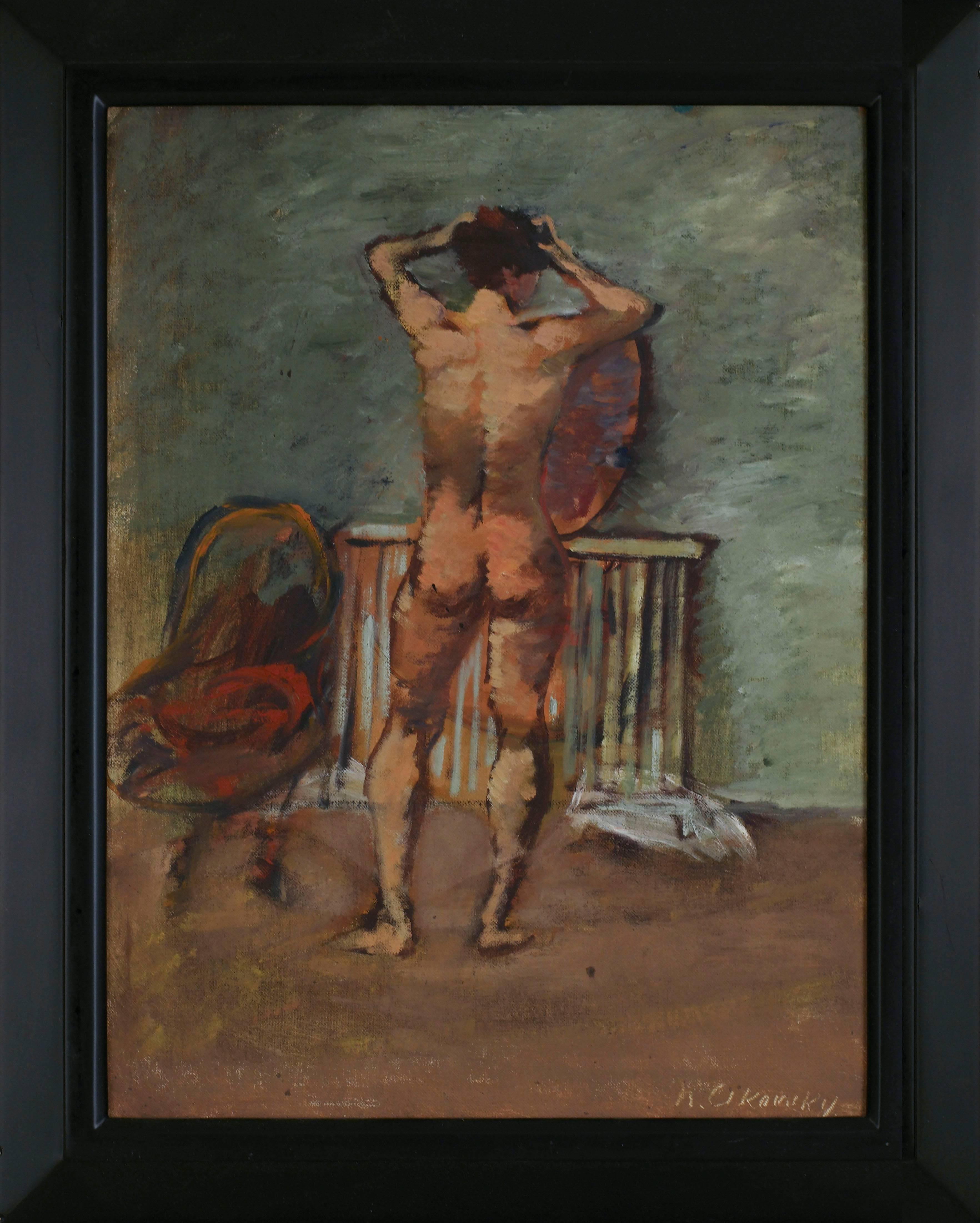 Nude Before Mirror