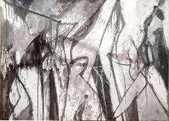 Nicolas Carone, Cavalcade, abstract acrylic painting, Abstract Expressionist
