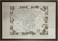 Important giant Map of Africa, for the King of France, 1698