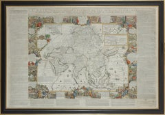 Important giant Map of Asia, for the King of France, 1696