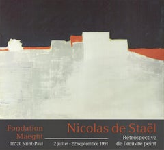 1991 After Nicolas De Stael 'Agrigente' Abstract Expressionist France Of