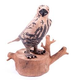 12'' Aguila en el Desierto / Ceramics Mexican Folk Art Mata Ortiz