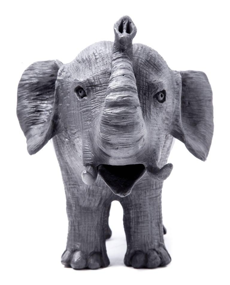 12'' Elefantes / Ceramics Mexican Folk Art Mata Ortiz For Sale 1