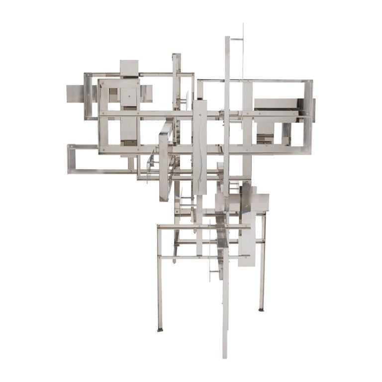 "Nicolas Schöffer Polished Steel ""Spatiodynamique 19"" Sculpture, 1953 For Sale"