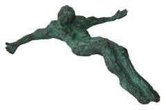 Christ; Nicole Durand (French 1957); bronze with patina;