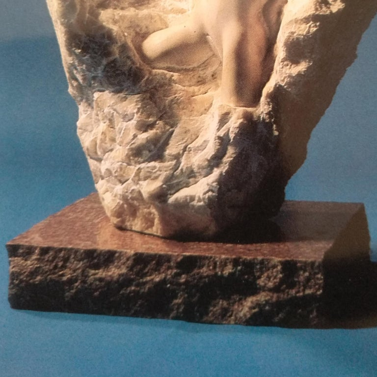 Ecstasy- 21st Century Contemporary White Alabaster Nude Sculpture  For Sale 3
