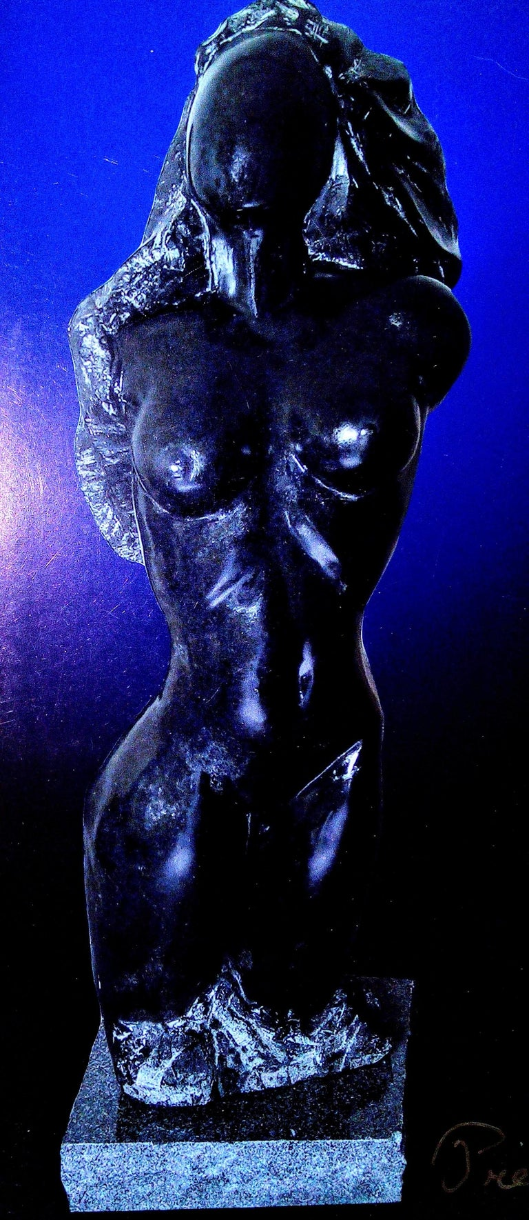 Elegance - 21st Century Contemporary Bronze on Granite Base Nude Sculpture  For Sale 1