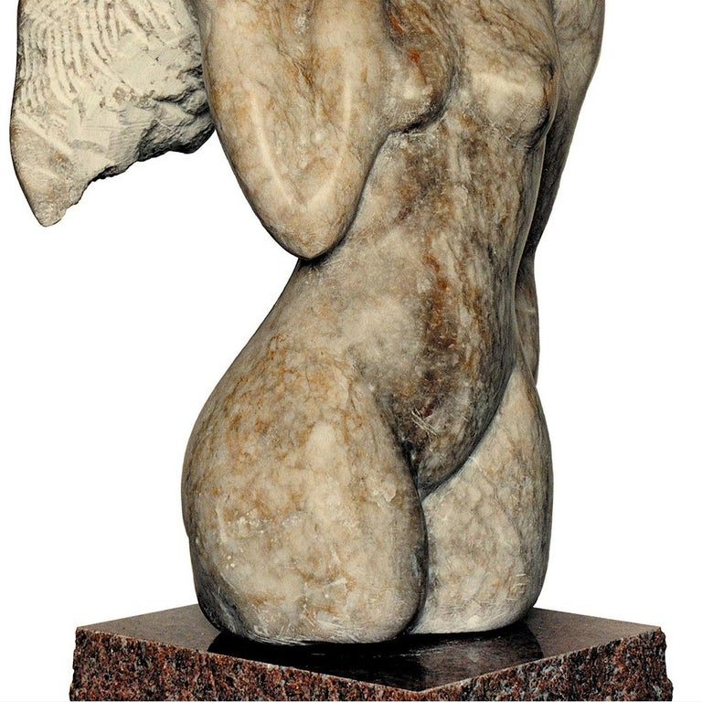 Femme, white Alabaster Sculpture from Nicole Durand For Sale 2