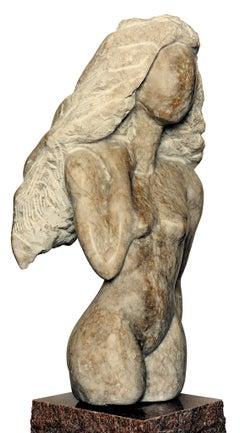 Femme, white Alabaster Sculpture from Nicole Durand