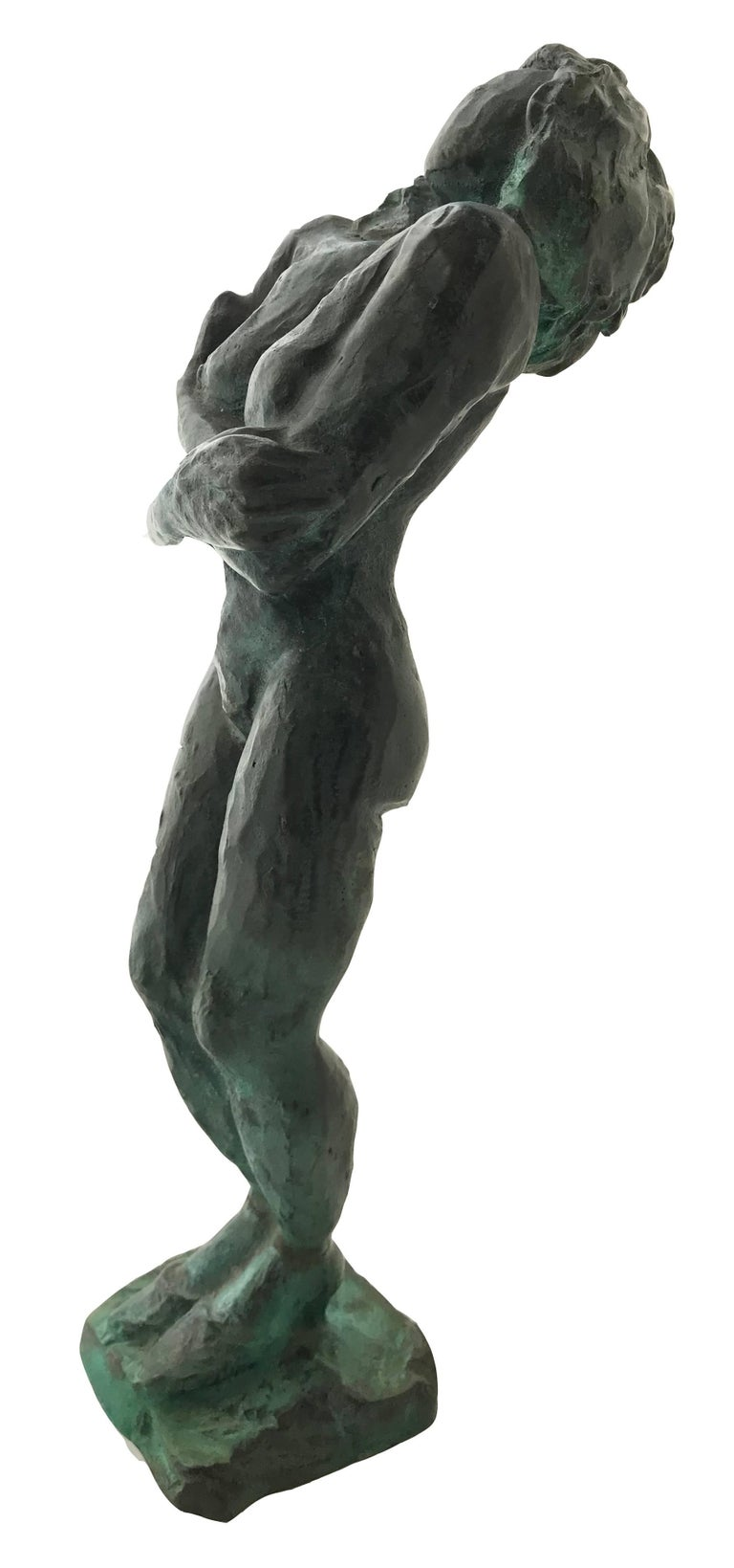 Nude Woman; Nicole Durand (French 1957); bronze with patina; - Gold Nude Sculpture by Nicole Durand