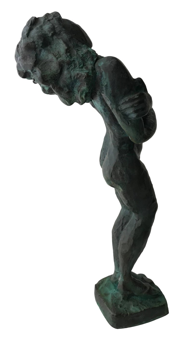 Nude Woman; Nicole Durand (French 1957); bronze with patina; For Sale 4