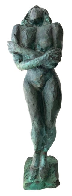 Nude Woman; Nicole Durand (French 1957); bronze with patina;