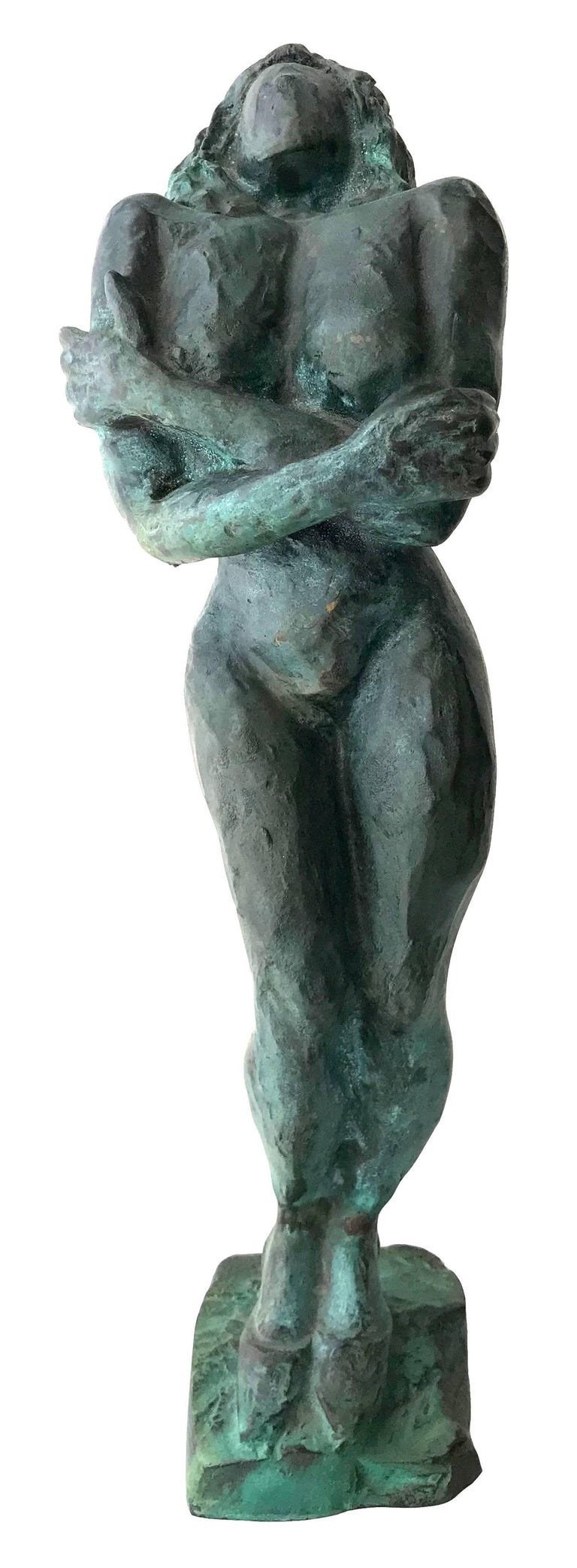 Nude Woman; Nicole Durand (French 1957); bronze with patina; - Sculpture by Nicole Durand