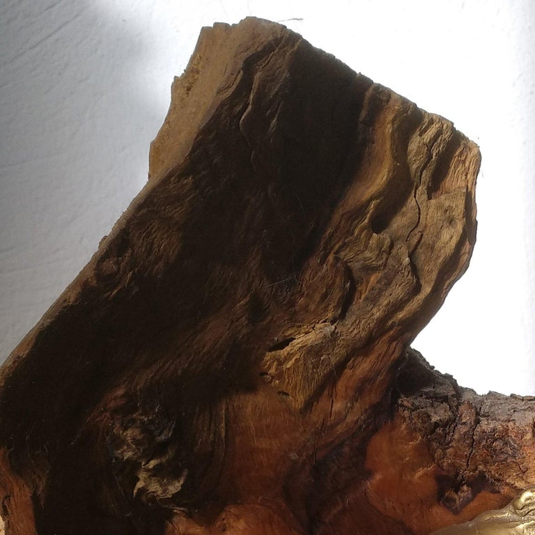 Protege- 21st Century Abstract Impressionist Wood Bronze Stone Sculpture   For Sale 3