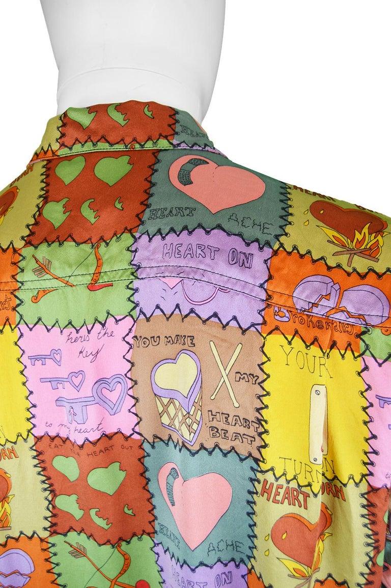 Nicole Miller Men S Vintage Pure Silk Short Sleeve Love