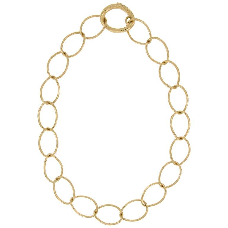 Nicolis Cola Gold Link Necklace For Sale