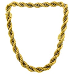Nicolis Cola Italian Twisted White and Yellow Gold Rope 2 Bracelets or Necklace