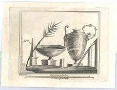 Ancient Roman Drawings - Original Etching by -N. Vanni 18th Century