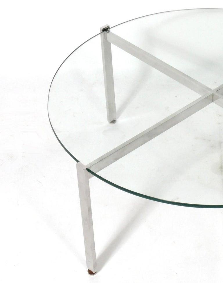 American Nicos Zographos Chrome X-Base Coffee Table For Sale