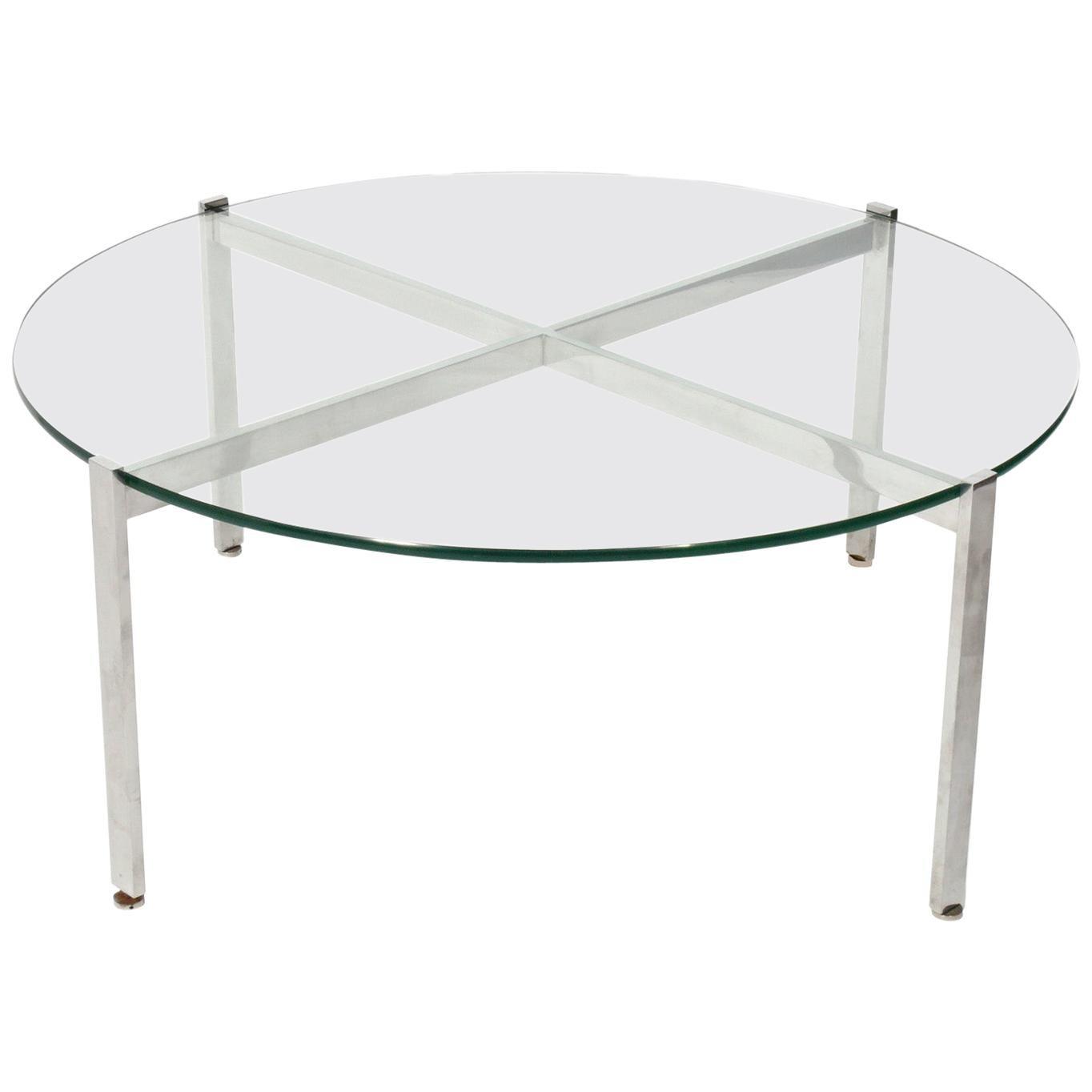 Nicos Zographos Chrome X-Base Coffee Table