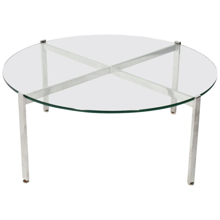 Nicos Zographos Chrome X-Base Coffee Table For Sale