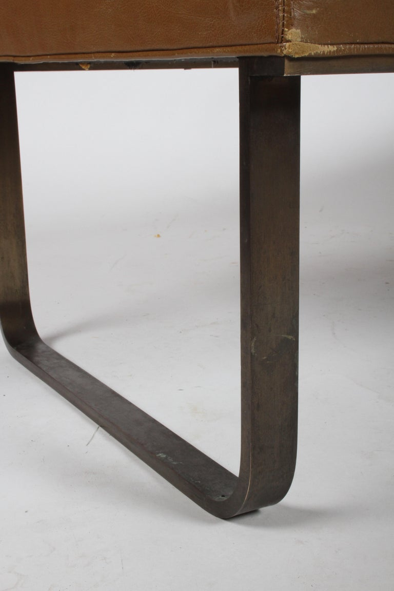 Nicos Zographos Museum Bench with Bronze Base For Sale 5