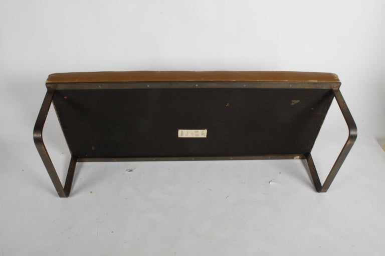Nicos Zographos Museum Bench with Bronze Base For Sale 6